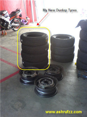 My New Dunlop 175/70/R13 Tyre Set