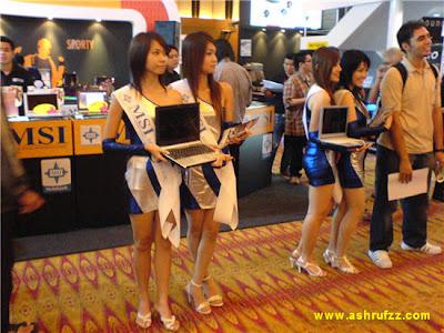 KLCC PC Fair 2007 Laptop Chicks