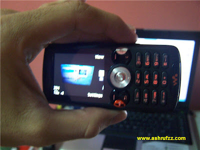 Me Holding My Sony Ericsson W810i