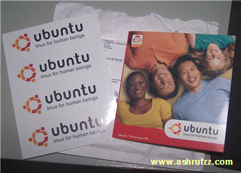 ubuntu CD and stickers