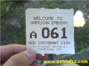 The American Embassy Queue Number
