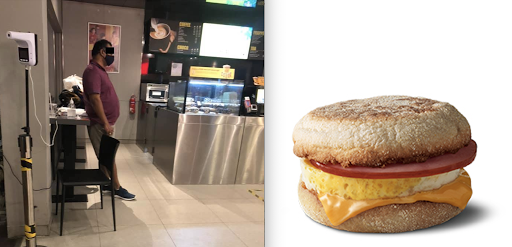 Man allegedly shouts at McDonald's manager because there is ham in egg mayo sandwich