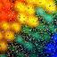 Rainbow Splash by Sam Sampson - Abstract Water Drops & Splashes ( m&ms, abstract, pattern, rainbow, droplets )
