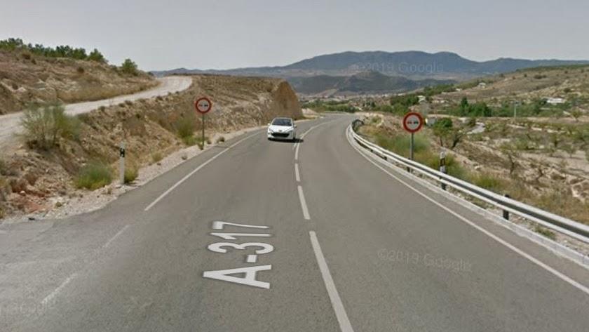 Captura de la carretera en la que ha ocurrido el suceso.