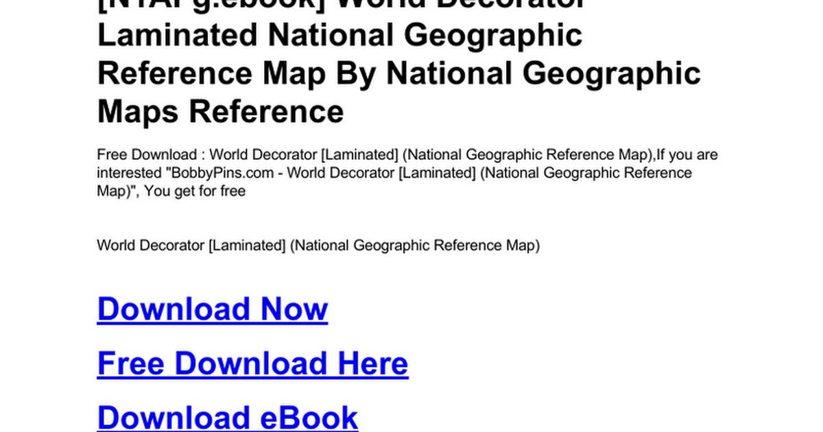 World decorator laminated national geographic reference mapc world decorator laminated national geographic reference mapc google docs publicscrutiny Images