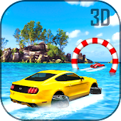 Water Surfer Luxury Car: Beach Driver 3D
