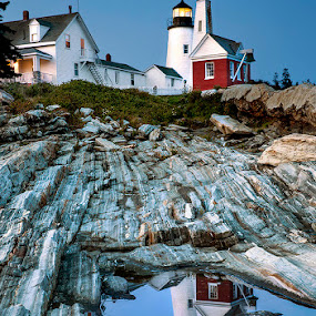 Pemaquid Point Light by Ann J. Sagel - Buildings & Architecture Public & Historical ( maine, lighthouse, pemaquid, ann sagel,  )