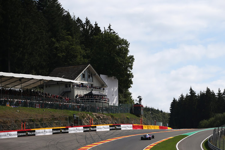 Brendon Hartley powers through Eau Rouge at Circuit de Spa-Francorchamps