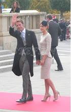 Photo: Prince Emnaule Filberto and Prince Clotilde of Savoy, Prince and Princess of Venice and Piedmont