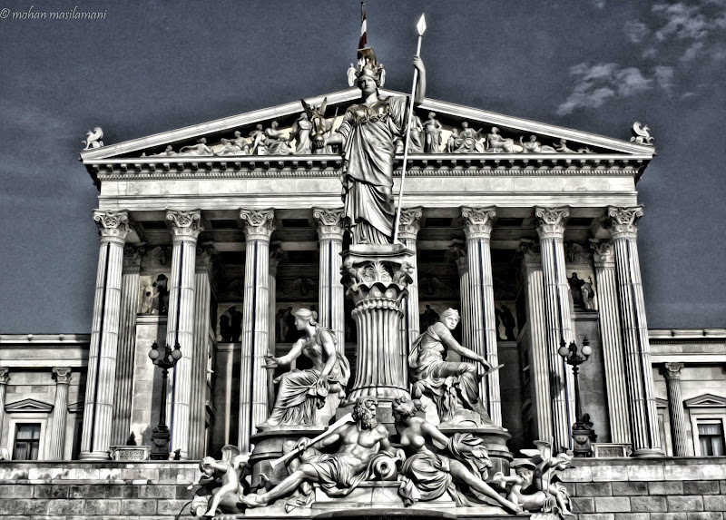 Photo: Austrian Parliament for #paintitsaturday by +Alexius Jørgensen+Steve Barge #paintography by +Gail Beerman+Sherry McBriar+Ray Bilcliff #textureblendphotography by +Gemma Costa #Austria  #architecture