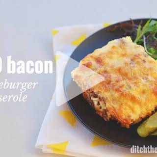 Keto Bacon Cheeseburger Casserole.