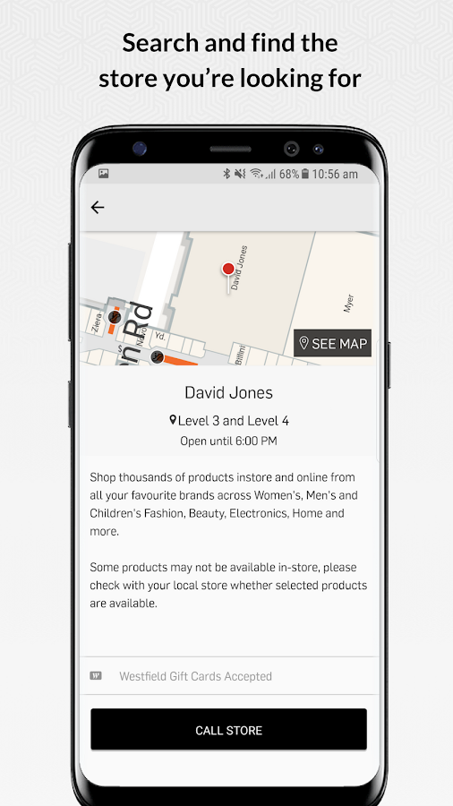 Westfield shopping au android apps on google play westfield shopping au screenshot negle Image collections