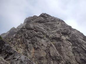 Photo: Looking up at more rock