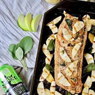 Grilled Hard Cider Pork Tenderloin with Apples and Sage Recipe