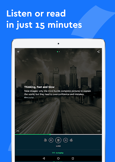Screenshot 11 for Blinkist's Android app'