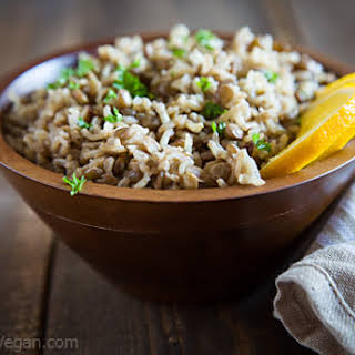 Spiced Lentils and Rice.