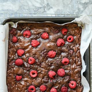 Gluten Free Double Chocolate Raspberry Brownies