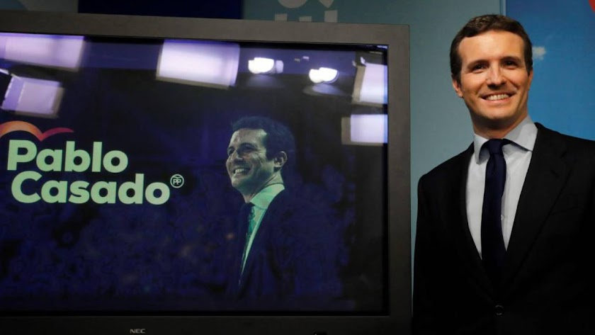 Pablo Casado, líder y candidato del PP a la presidencia del Gobierno.