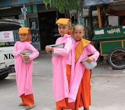 Photo: Year 2 Day 55 -Young Novice Monks Collecting Alms