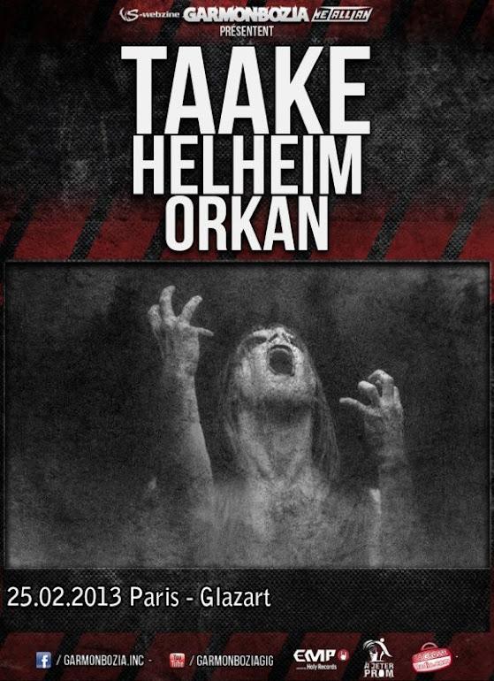 Taake / Helheim / Orkan @Glaz'Art, Paris 25/02/2013