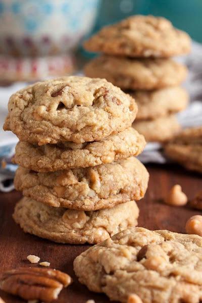 Butterscotch Toffee Pecan Cookies Recipe