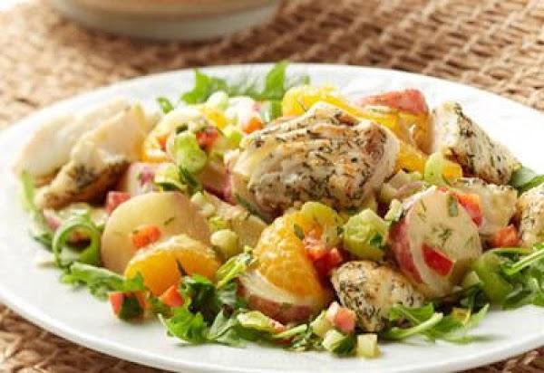 Warm Alaskan Halibut Potato Salad Recipe