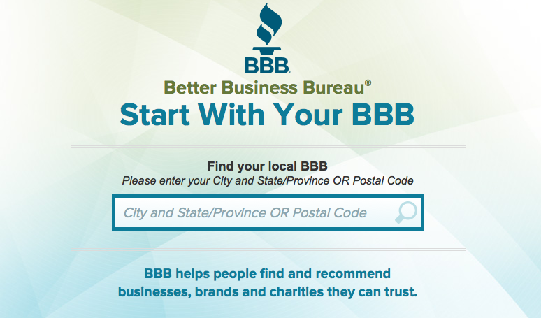 bbb.org homepage