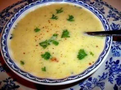 """Leek & Potato Soup""""A soup for anytime of the year. When served..."""