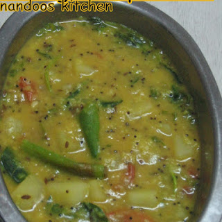 Moong Dal With Potatoes Curry.