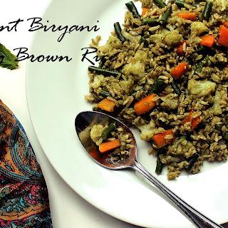 Mint Biryani Using Brown Rice.