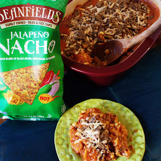 Fiesta Chick-style Casserole with Beanfields Jalapeño Nacho Chips