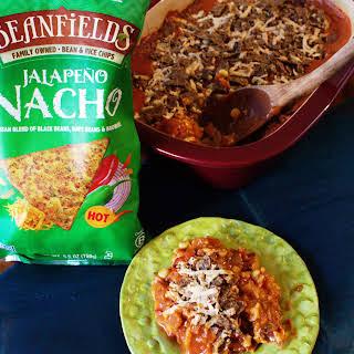 Fiesta Chick-style Casserole with Beanfields Jalapeño Nacho Chips.