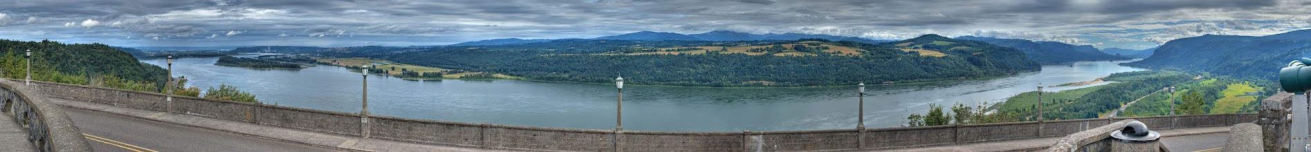 Photo: Crown Point panoramic HDR