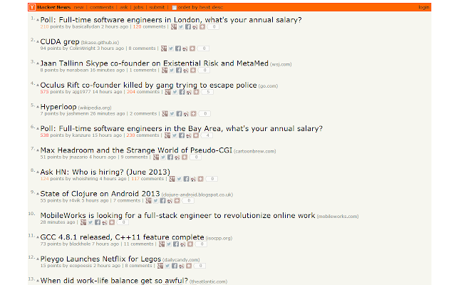 Hacker News Tweak
