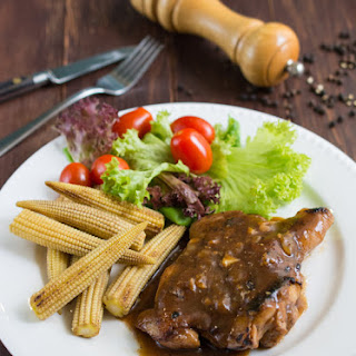 Chicken Chop With Black Pepper Sauce Recipes.