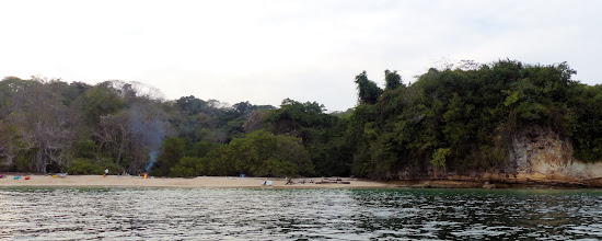 Photo: Beautiful Isla Chapera.  That spot on the right is soon to have a bonfire of our own.