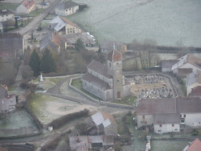 Photo: L'église de montrond vue d'avion le 26/12/2009