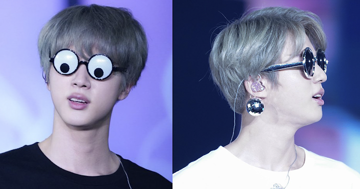 Bts S Jin Keeps Wearing Funny Glasses On Their Love Yourself Tour