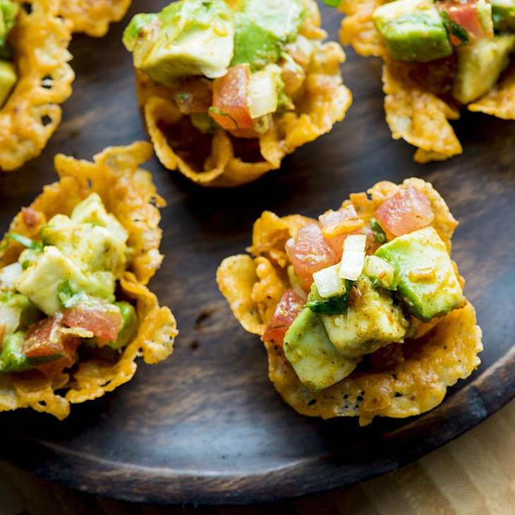 Cheese Scoops with Guacamole