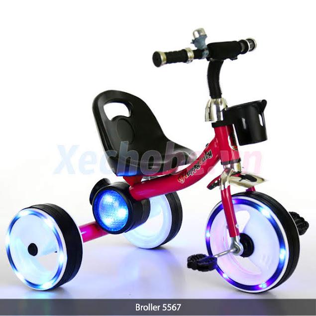 xe đạp 3 bánh cho bé có bánh sáng đèn 5567