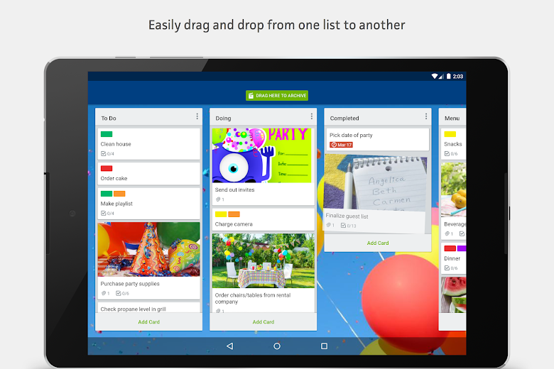 Screenshot 7 for Trello's Android app'