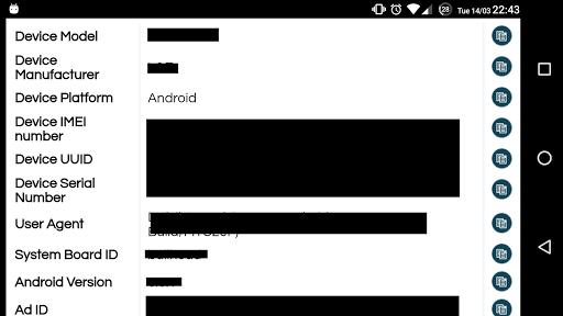 my device ids screenshot 3