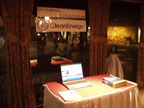 Photo: (sorry about the focus) Clean Energy Geothermal Table Top