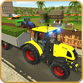 Virtual Farmer Tractor: Modern Farm Animals Game