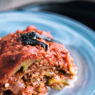 Slow Cooker Beef Zucchini Lasagna.