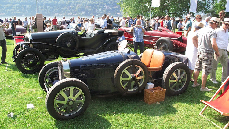 The famous 1931 Bugatti 51 alongside a 1922 Bentley 3 Litre. Picture: MARK SMYTH