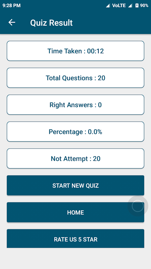 General knowledge - Hindi Gk Quiz App- screenshot