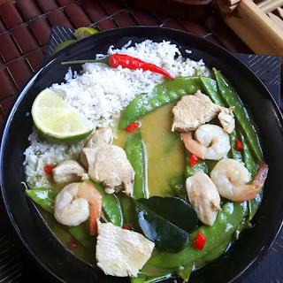 Green Thai Chicken Curry + Snow Peas.