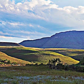 Silence by Tracey Zettler - Landscapes Mountains & Hills ( hills, mountains, peace, solitude, shadows, fields )