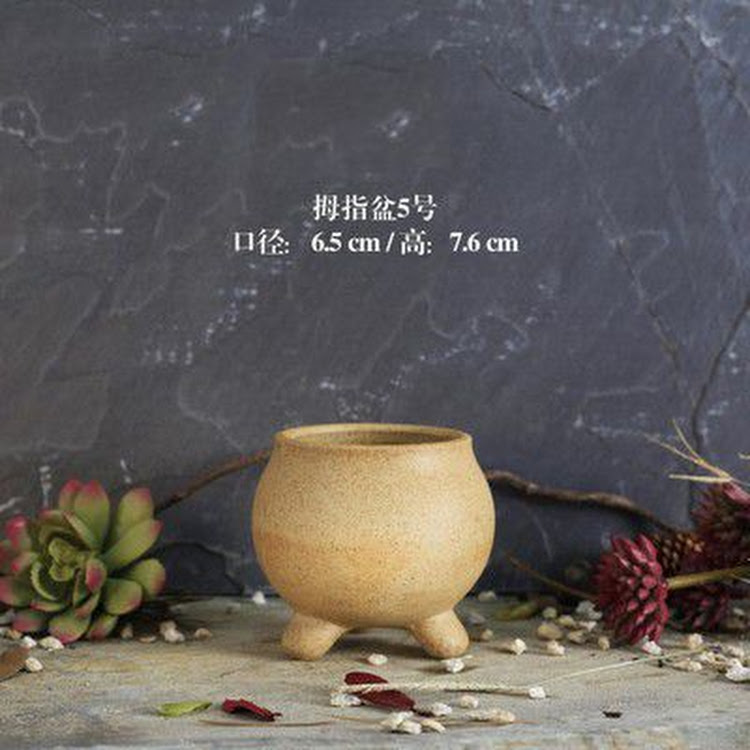 Miniature Ceramic Pot - 08 by AquaticsForevers Enterprise